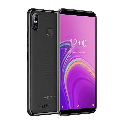 Vernee M3 Smartphone(2019), Android 8,1, Schermo da 5,5'', 3GB + 32GB ROM, 128GB Espandibili, Batteria 3300mAh, Doppia Fotocamera 13 e 5MP, Telefono Cellulare Dual Sim 4G, Nero [Versione Italiana]