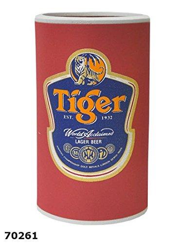 Flaschenkühler/Dosenkühler aus NEOPREN, Tiger rot (70261) // 12 cm