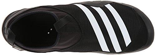 Adidas ClimaCool esterna Jawpaw Slip On Shoe Acqua - Nero / bianco / argento metallizzato 5 Black/White/Silver Metallic