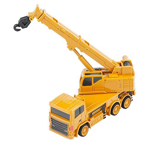 RC Auto kaufen Baufahrzeug Bild 4: Alomejor RC Bauwagen, Mini DIY Baufahrzeug RC Bagger Truck Bagger Kits Baustein Spielzeug(Kran)*