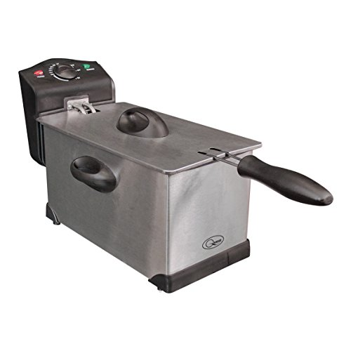 41fG6hAWCuL. SS500  - Quest 35140 Stainless Steel Deep Fat Fryer, 3 Litre, 2000W, 40x18x25cm, Silver