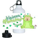 Eurofoto Trinkflasche Set mit Namen Dora und Motiv - Kleines Monster - für Mädchen | Motiv-Trinkflasche | Kinder-Aluflasche