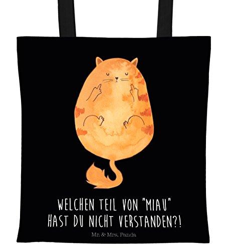Mr. & Mrs. Panda Tragetasche Katze Mittelfinger - 100{3194cccc3259cd84914cb9b818e85cab55f06ed4a592ecf4c4c409dba41bac12} handmade in Norddeutschland - Tasche, Cats, Fuck off , Jutebeutel, Mietze, Jutetasche, bedruckt, Katze, Bag, Cat, Stinkefinger, Motiv