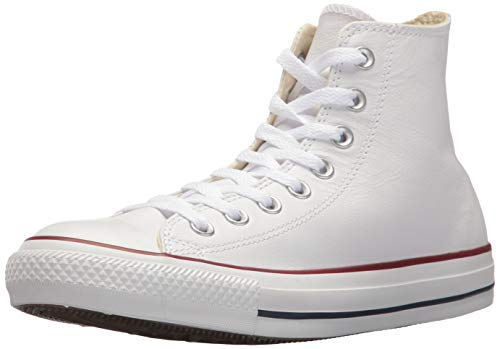 Converse Chucks Taylor All Star Hi Leder, Unisex - Erwachsene Sneaker, Weiß (Optical White), 36.5 EU (Converse All Star Hi High Top)