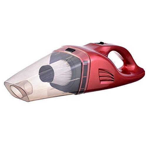 ZL9 Auto-Staubsauger Kabellose Tragbare Wiederaufladbare Nasse Und Trockene 12 V 75 Watt Starke Saugleistung Für Auto Und Zuhause,rot,A