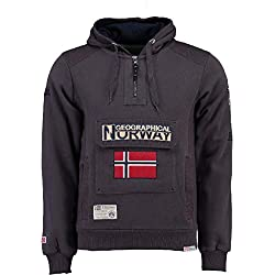 Geographical Norway Sudadera DE Hombre GYMCLASS A Gris Oscuro L