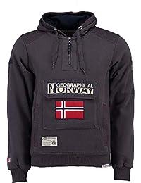 Geographical Norway Sudadera DE Hombre GYMCLASS A Gris Oscuro