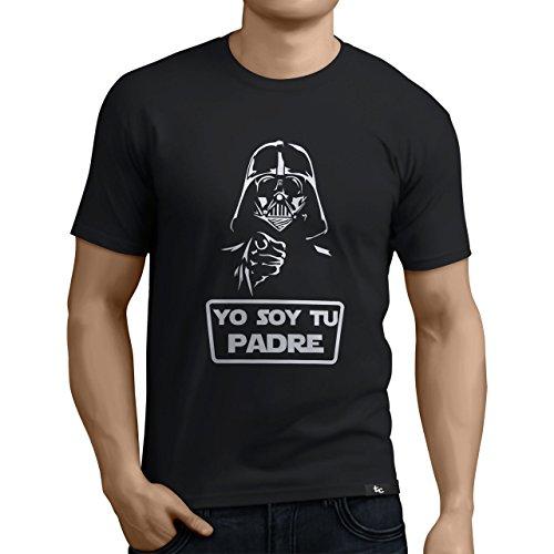Tuning Camisetas - Camiseta Divertida para Hombre - Modelo Yosoytupadre, Color Negro- Talla L (0197-Negro-Yo-soy-tu-padre-L)