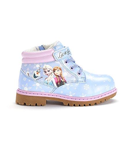 Disney Die Eiskönigin Elsa & Anna Mädchen Sneaker high - mit Kunstfell - hellblau - 27