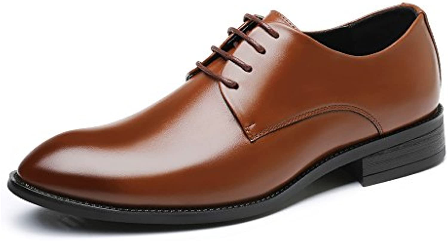 New New New Scarpe da Lavoro da Uomo da Uomo Classic Matte PU Leather Upper Lace Up Lined Oxfords | Ultima Tecnologia