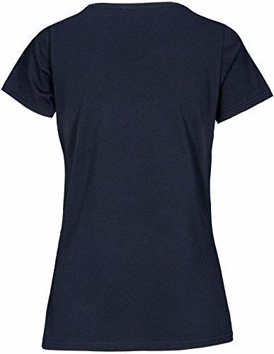 Basefield Damen Printshirt Smile1/2 Arm - Jeansblue (229005421) 659 JEANSBLUE