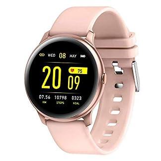 Naack Reloj Inteligente Pulsera Monitor de frecuencia cardíaca smartwatch Monitor De Ritmo Cardíaco Mujeres Hombres niños Sport Smartwatch Mensaje Recordatorio Rastreador De Fitness para Android iOS