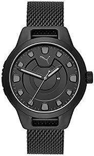 Puma Reset V1 Men's Black Dial Stainless Steel Analog Watch - P