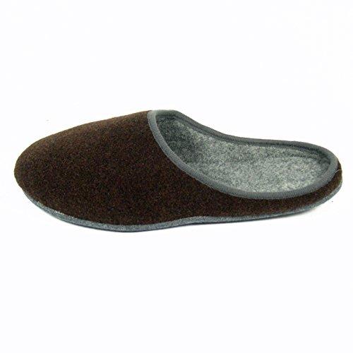 Filzpantoffel Hauspantoffel Filzlatschen Pantoffel Unisex Erwachsene versch Farben Braun