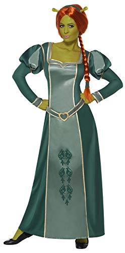 Shrek Fiona Kostüm enthält Kleid Perücke und Haarband, Medium
