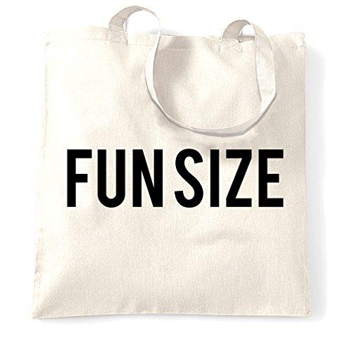 Divertente Sacchetto Di Tote Fun Size persona Breve Carino Slogan sciocco Joke Piccolo White