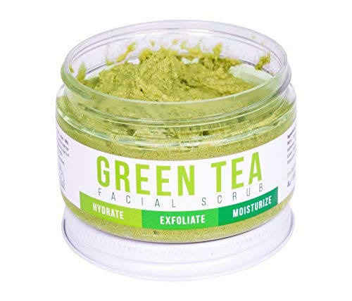 GREEN TEA DETOX FACE SCRUB By Teami | 100% Organic Facial Scrubs | Exfoliate Hydrate Moisturize All Skin Types | with Lemongrass for Blemishes & Blackheads and the Best Exfoliating Sugar.