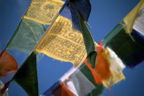 Buddhafiguren bandiere di preghiera buddista xl 8,50 metri
