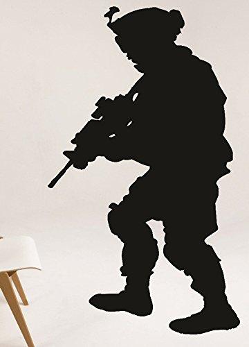 Design mit Vinyl Rad 12382,5cm Army Soldier Gun Maske Combat