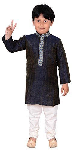 (Desi sarees Jungen Indian Sherwani Kurta Pyjama für bollywood-thema & Kostüm Eid Party Geschäfte London 899 - Marineblau, 4 ( 4 yrs ))