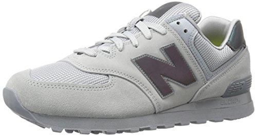 New Balance 574, Scarpe da Ginnastica Basse Uomo, Grigio (Grey), 42 EU