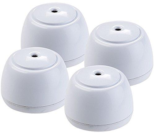 VisorTech Wasserwächter: 4er-Set Mini-Wassermelder, lauter Alarm (85 dB), Batteriebetrieb, IP65 (Drahtloser Wassermelder)
