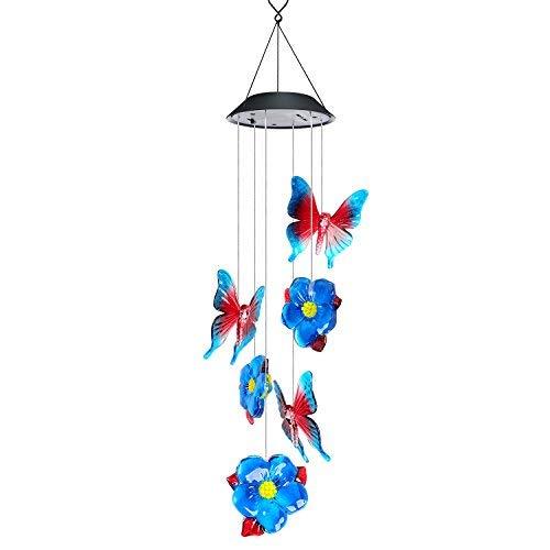 AVEKI Wind Chimes Outdoor, Solar Windspiel LED Farbwechsel Hängelampe Wasserdicht Solar Powered Wind Chimes für Indoor Outdoor Garten Terrasse Dekoration (Solar-outdoor-hängelampen)