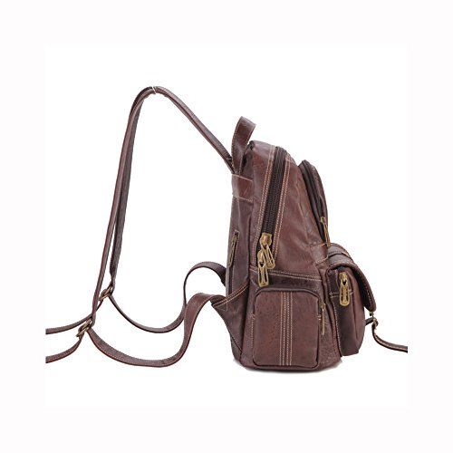 Lycailcy  LYC-Lycailcy-80290-5, Sac à main porté au dos pour femme Marron Light Brown(9.3 x 5.5 x 11.8 inches) taille unique Purple(9.3 x 5.5 x 11.8 inches)