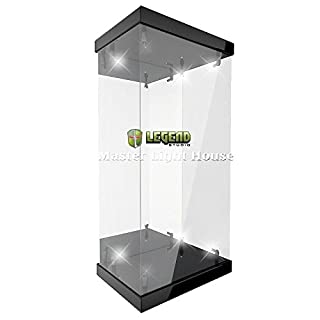 Master Revolving House Acrylic Display Case with Lighting for 1/12 Action Figure