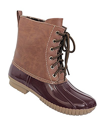 Fashion Essentials Women Ankle Rain Duck Boots Water Resistant