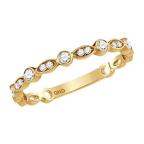 Sonia Jewels - 10 K Gelbgold Rundschliff Leicht Getöntes Weiß/Top Crystal (I) Weißer Diamant