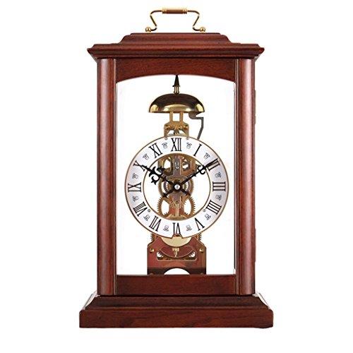FOOFAY relojes de chimenea familiares Mesa de madera maciza Reloj Mantel Relojes...
