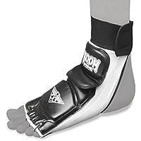 BOOM Prime Taekwondo protegepiés PROTECTOR Karate MMA acolchados Calcetines Combate Engranaje - negro y blanco, L - 9