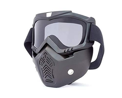 Motorrad Voll Gesichts Maske & Brille mit Rauchglas für Jethelm Helme