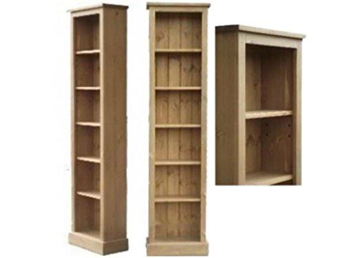 Best Heartland Pine Solid Pine Bookcase; 6ft Tall Slim Jim Adjustable Display Shelving Unit, Bookshelves. No flat packs, No assembly (SJBK6) Reviews