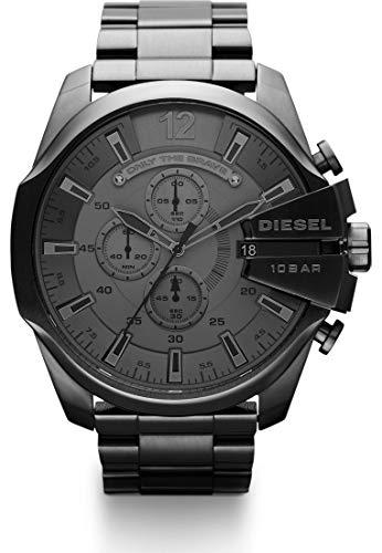 Diesel Herren-Uhren Rund Analog Quarz One Size Edelstahl 86236958