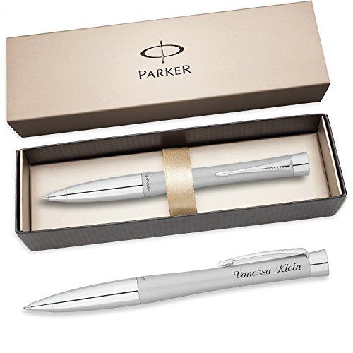PARKER Kugelschreiber URBAN FASHION FAST-TRACK C.C. silber S0767140 mit persönlicher Laser - Gravur