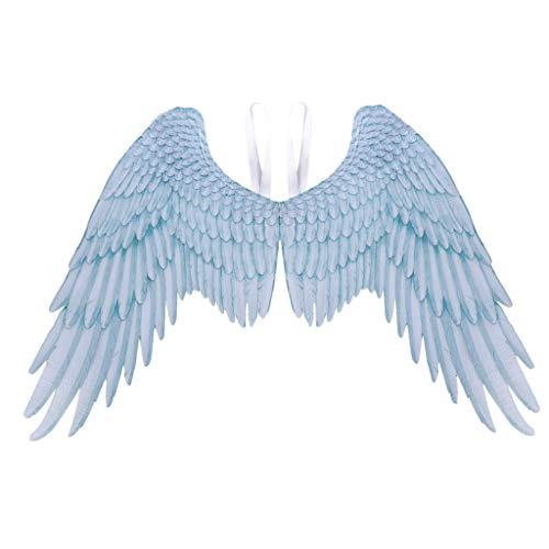 Feather Wings Kostüm - Engelsflügel Damen Herren Federflügel Engel Fee Flügel Piebo Angel Feather Wings Gothic Karneval Fasching Kostüm Halloween Weihnachten Karneval Party Cosplay Bühnenzubehör (One Size, Weiß)