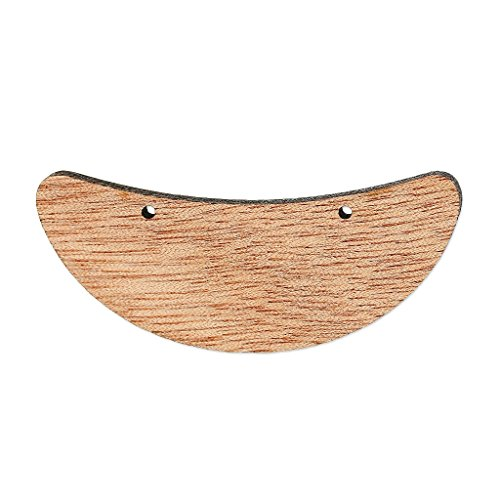 Separatore per collana mezza luna mm. 56x21 di legno Brown x1