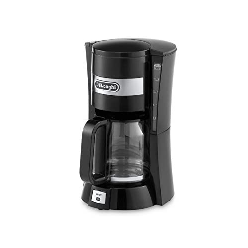 De'Longhi Filter Coffee Machine, 1.25 Liters, Auto shut off and Anti-Drip system, ICM15210.1 – Black