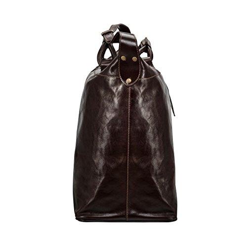 Maxwell Scott Bags® PERSONALISIERT! Luxus Weekender Tasche aus Leder in Dunkelbraun (Fabrizo) Dunkelbraun
