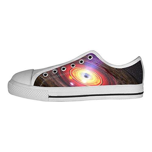 Custom universo piatto Men s Canvas Shoes Scarpe Lace Up High Top Sneakers a vela panno scarpe Scarpe di tela sneakers d