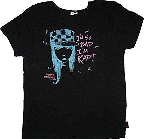 Emily the Strange Junior women's shirt tee I'm So Bad I'm Rad schwarz - Medium (Junior)