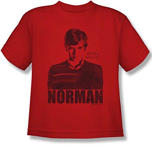 Bates Motel - Jugend Norman T-Shirt, Large, Red
