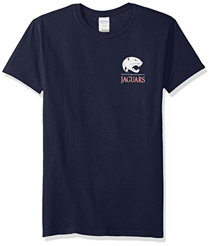 New World Graphics Unisex South Alabama NCAA Team Mosaic Short Sleeve, Navy, XL