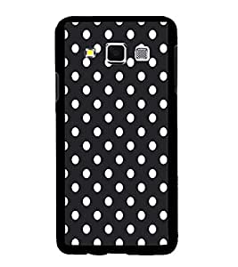 Fuson Premium Black n White Circles Metal Printed with Hard Plastic Back Case Cover for Samsung Galaxy A3