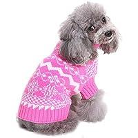 Shuda 1 pc Pull de Navidad para Animales domésticos Abrigo para Perros otoño Invierno Rosa Disfraces