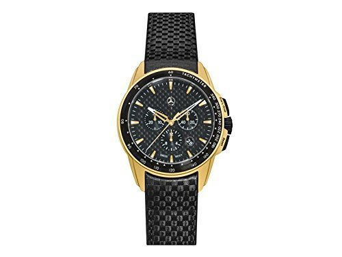 Mercedes Benz Original Herren Armbanduhr Edelstahl Motorsport Chrono 2018' Carbon Zifferblatt Gold Edition