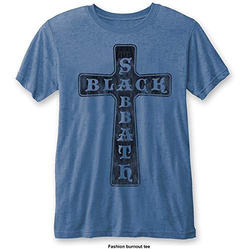 Rockoff Trade Black Sabbath Vintage Cross (Burn out) Camiseta,...