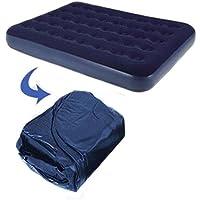 Materasso gonfiabile singolo doppio per aumentare l' aria esterna letto floccato ispessimento gonfiabile letto, 152*203*22cm